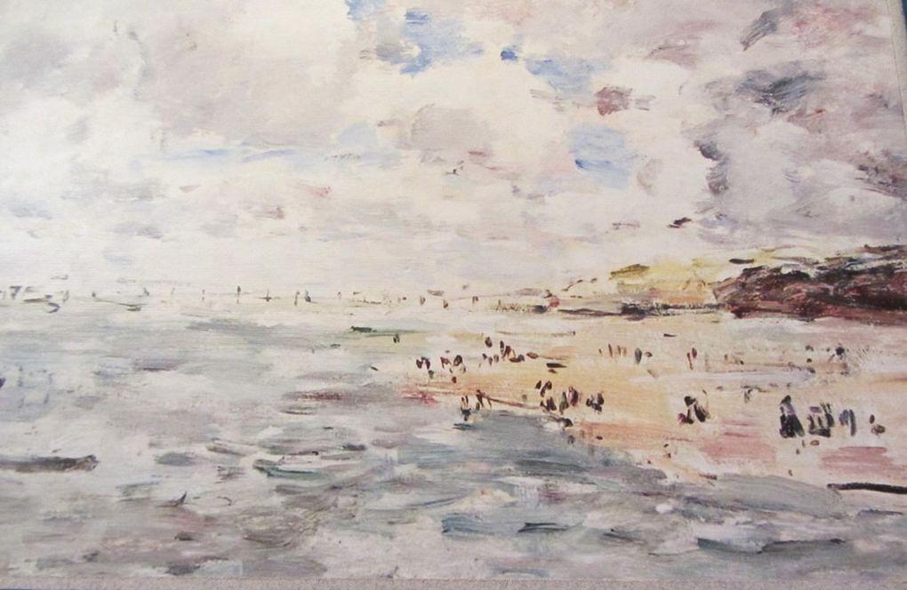 Eugène Boudin  Bassin du Commerce au Havre et plage de Trouville