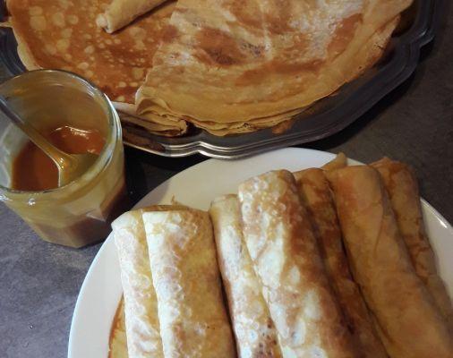 Crêpes bretonnes au caramel au beurre salé