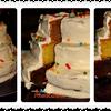 Gâteau d'anniversaire en pièce montée