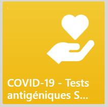 Délivrance des tests antigéniques