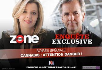 """Soirée Spéciale """"Cannabis : attention danger !"""" le 15 septembre sur M6"""