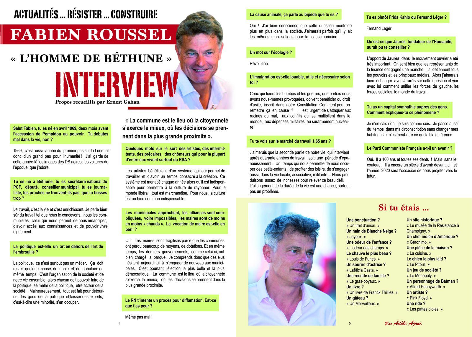 Rouge Finistère, automne 2019 - Interview de Fabien Roussel