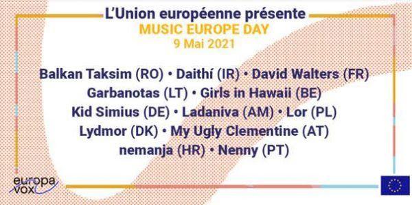 music europe day artistes