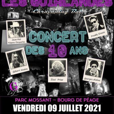LES GUIRLANDES  concert des 10 ans Parc Mossant à Bourg de Péage