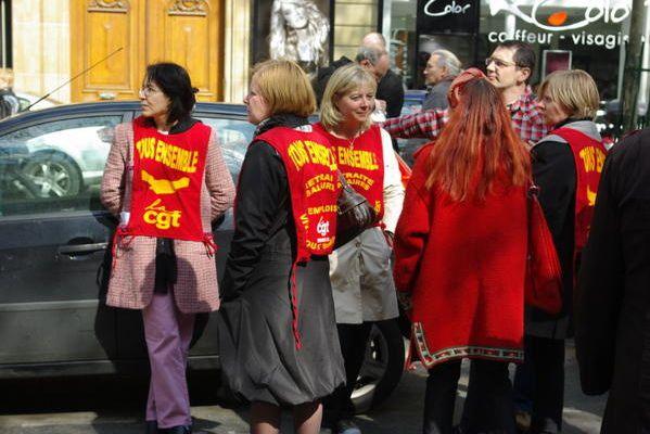 Manifestation de salariés, Paris, France