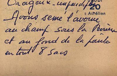 Jeudi 20 octobre 1960 - Semer l'avoine