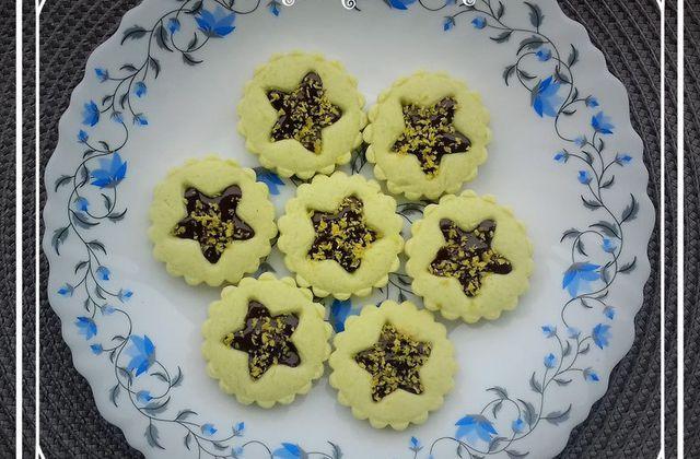 Tartelettes étoiles pistache chocolat