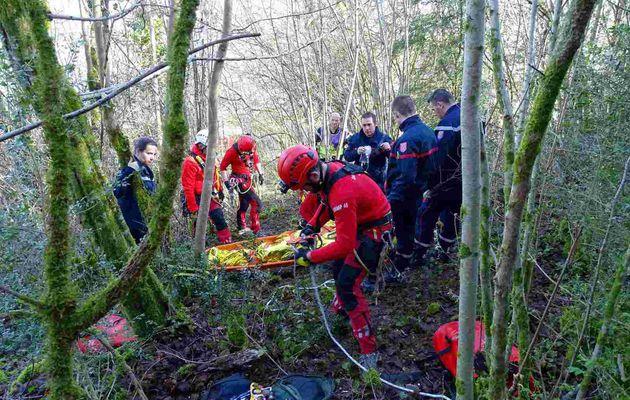 Carennac (46) – Sauvetage délicat d'un octogénaire par les pompiers du Lot