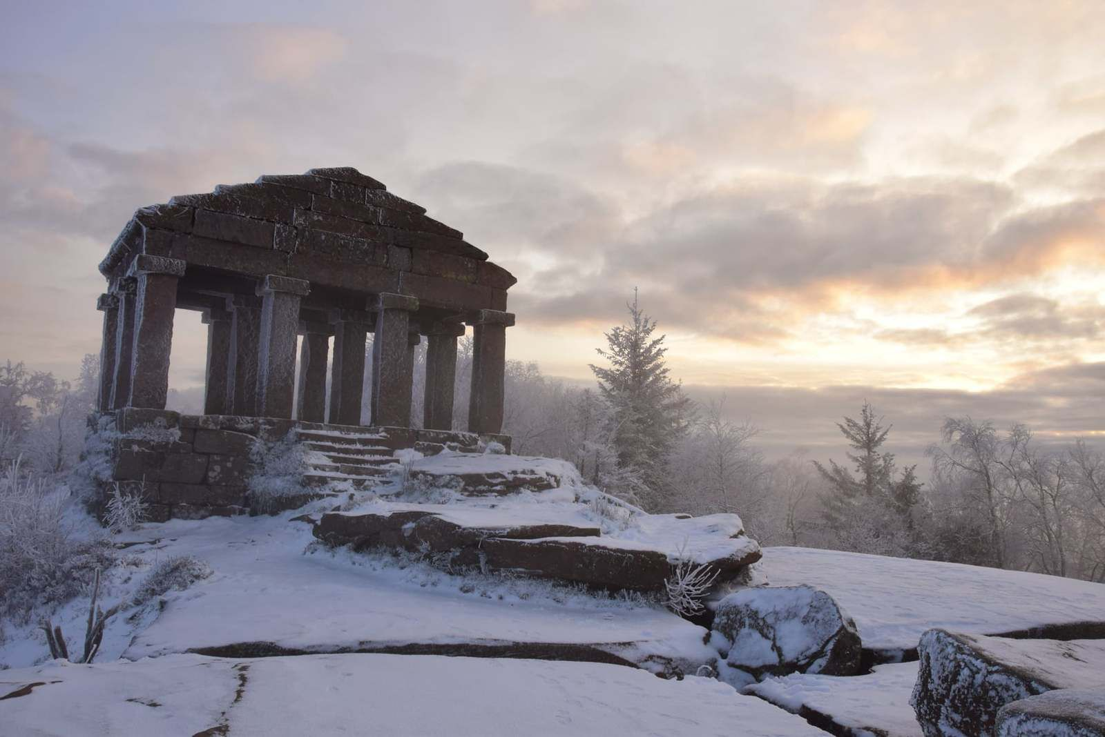 Dans la magie d'un matin d'hiver