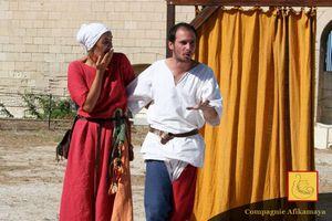 Animations médiévales - Théâtre de rue et farces - Sacrés Week-ends - Béziers - 12 septembre 2015