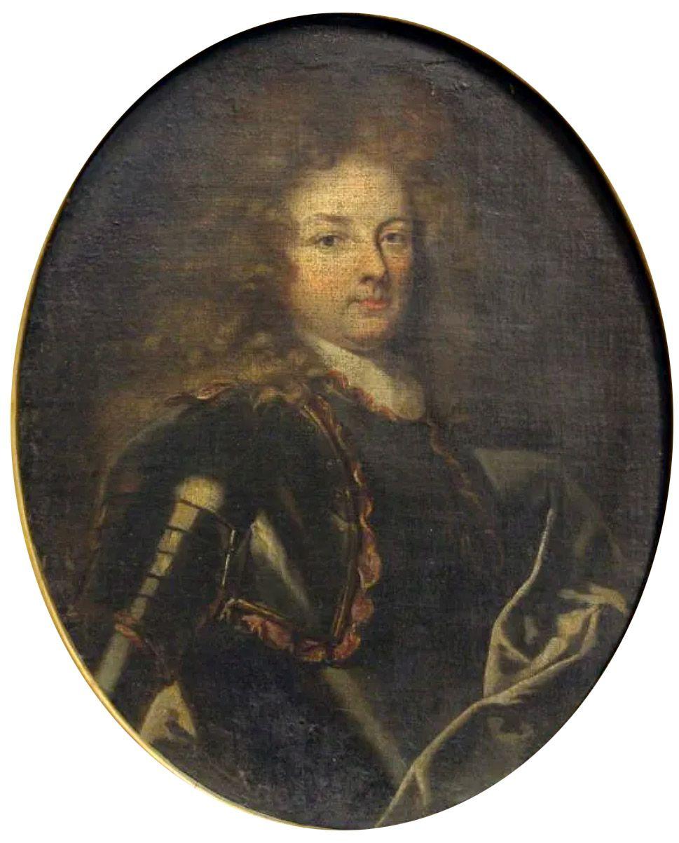 Atelier d'Hyacinthe Rigaud, portrait de jeune militaire, v. 1690-1695. Hôtel des ventes d'Amiens © d.r.