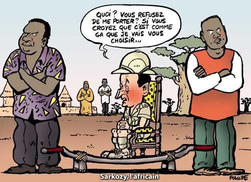 Des immigrés sélectionnés pour figurer à côté de Nicolas Sarkozy ?