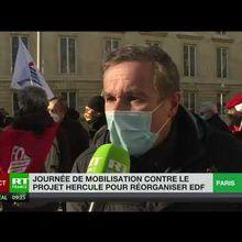 """EDF : large mobilisation syndicale et politique contre le projet """"Hercule"""""""