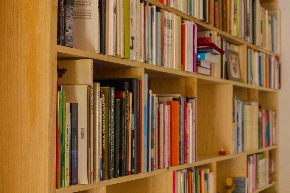 "Bibliothèque ""BricK"" en frêne massif"