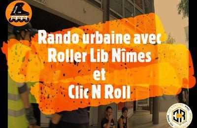 Vidéo Rando Roller Lib - Clic N Roll et tourisme à Nîmes du 23 juillet 2021
