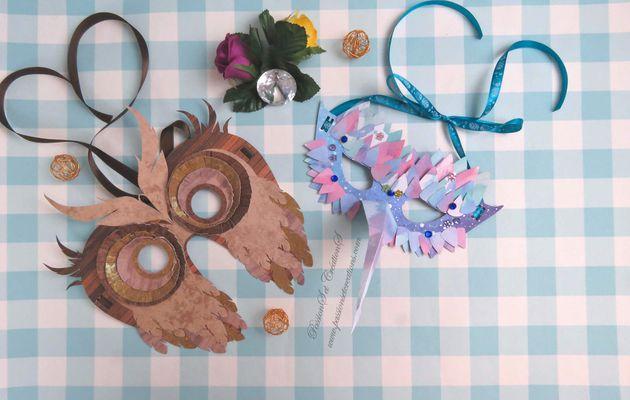 {Scan N Cut} Réaliser : Deux Masques pour Carnaval...