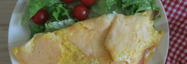 Omelette au jambon de Bayonne et Beaufort