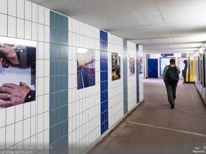 Les panneaux en 65,5x65,5cm témoignants du travail réalisé par les hommes de l'ombre de la SNCF.