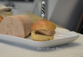 Minis burgers brioché de foie gras