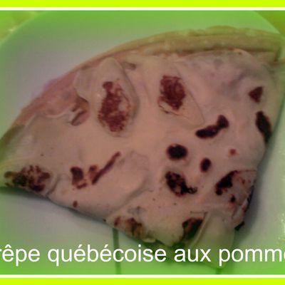 Crêpes québécoises aux pommes
