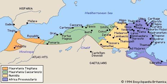 Caesariensis Mauretania en vert