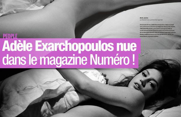 Adèle Exarchopoulos nue dans le magazine Numéro ! #Adele