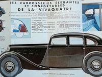 Fac-similé des plaquettes publicitaires des «Vivaquatre» et «Monaquatre» Renault modèles 33/34. Cliquer sur la première vue pour les faire défiler en format intégral.