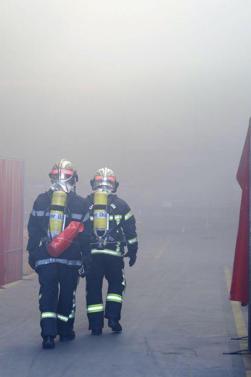 Manoeuvre des Pompiers à Saint-Jean-sur-Veyle