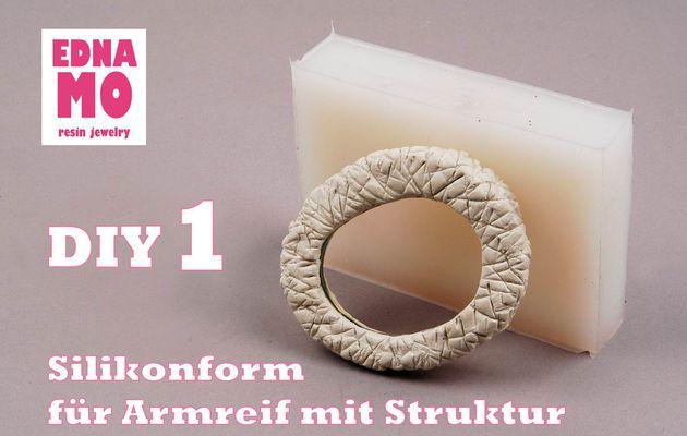 DIY - Silikonform für Armreif mit Struktur_Teil 1