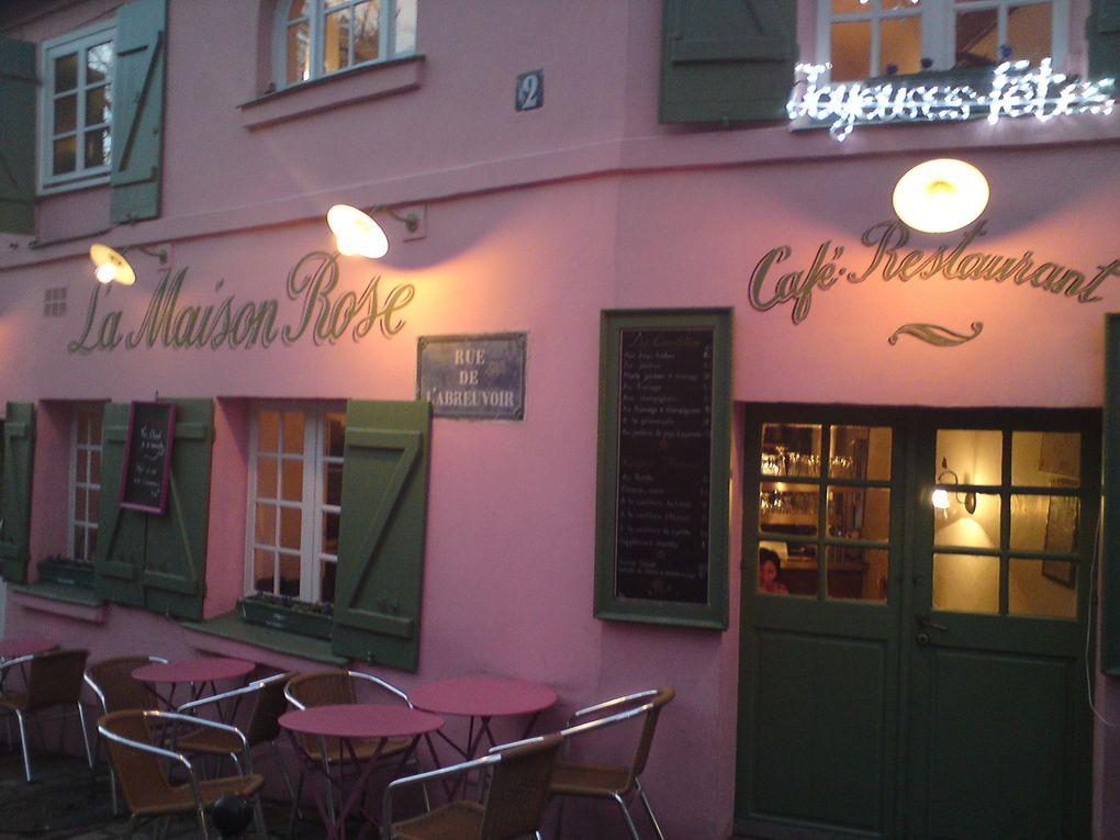 Les jolies maisons roses de Montmartre