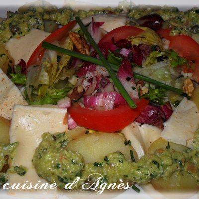 salade de pommes de terre au saint-paulin ravigoté