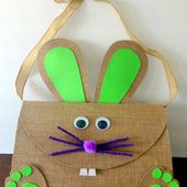 Purple Hues and Me: Burlap Easter Bunny Bag