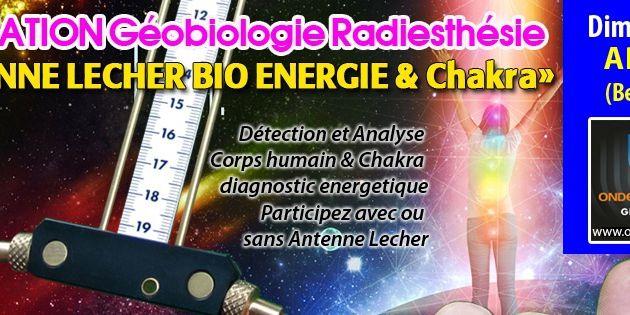 "Arlon Formation GEOBIOLOGIE : ""Antenne Lecher 2, utilisation Corps Humain Chakras BioEnergie"""