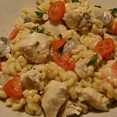 Coquillettes poulet fromage cookeo  