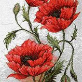 Poppy photo stitch free embroidery design