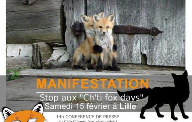 """Appel à mobilisation contre les """"ch'tis fox days"""" ce 15 février à Lille"""