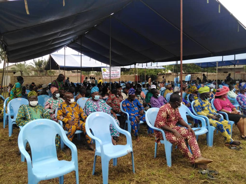 Quelques images de l'étape de Kétou Centre