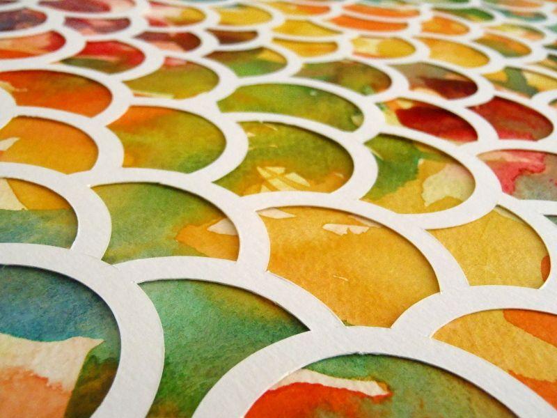 Rêverie - Aquarelle et papier découpé