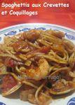 (Portugal) Spaghettis au Porto, Palourdes et Crevettes ...