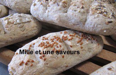 Petits pains aux graines sans pétrissage