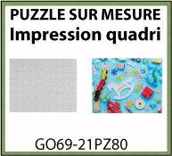 Puzzle sur mesure de 80 pièces avec impression digitale qualité photo - GO69-21PZ80