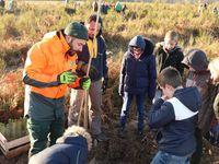 Les plantations ont débuté par les élèves de Saint-Mars-d'Outillé entouré des équipes de l'ONF.
