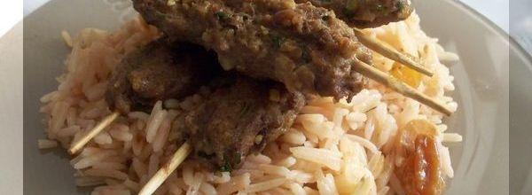 Kebab à ma façon (brochette de viande)