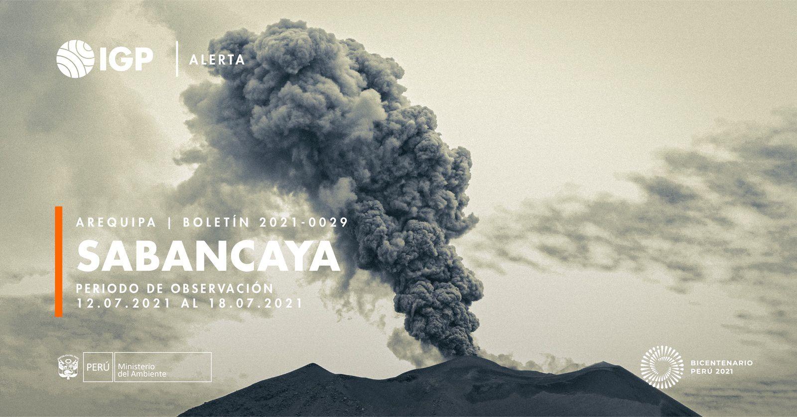 Sabancaya - activité de la semaine du 12 au 18.07.2021 - Doc. I.G.Peru