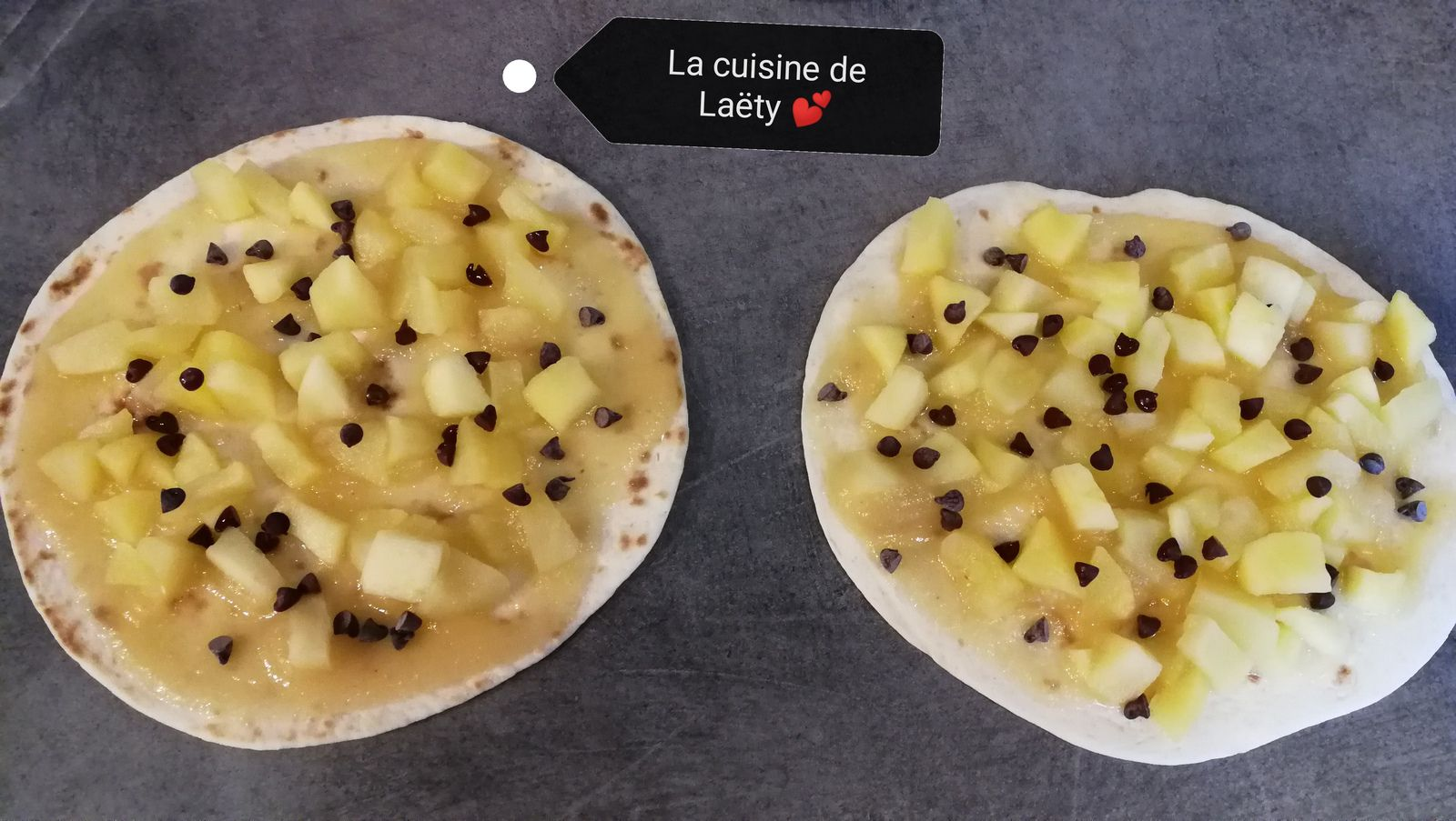 Wrap roulé Pomme - Chocolat - Caramel