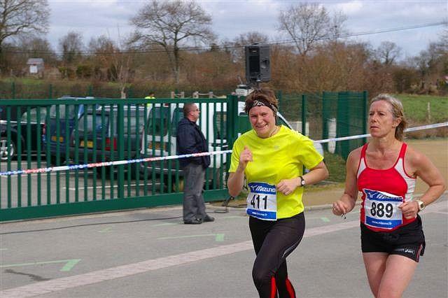 Le Semi Marathon de La Brière et 7 km le 21 mars 2010.Premier Semi pour Geneviève et Frédéric. Bon anniversaire à Stéphanie !