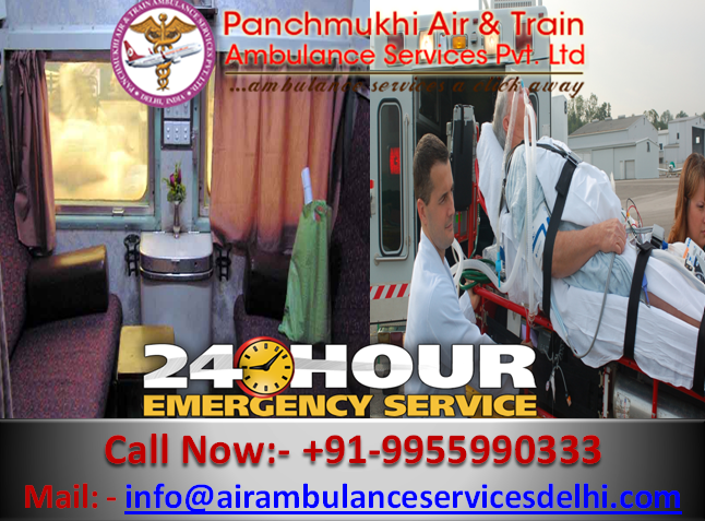 Panchmukhi Train Ambulance from Patna to Delhi - The Best Choice To Hire