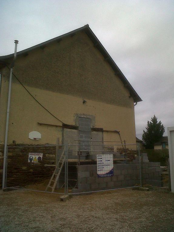 Les photos des travaux de l'école Sainte Philomène à Saint-Grégoire