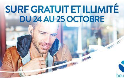 Nouveau week-end data illimitée les 24 et 25 octobre pour les clients Bouygues Telecom ...