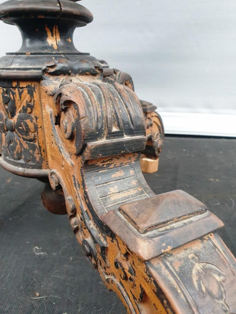 TABLE DE SALON VIOLON ACAJOU LOUIS PHILIPPE 1830  - 220 euros